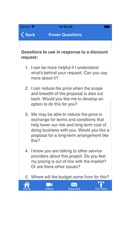 The Power Questions App
